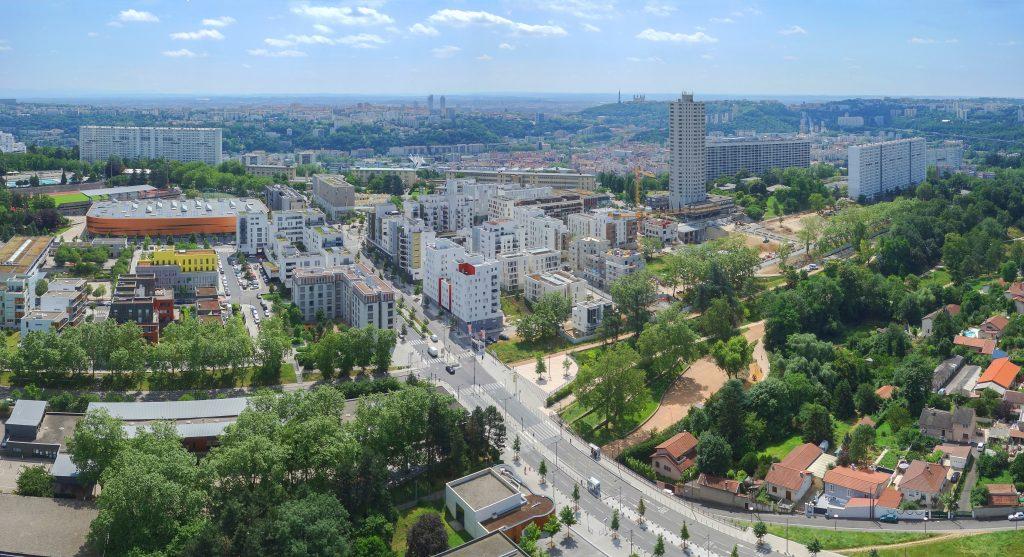 Vue aérienne de Lyon la Duchère en 2016
