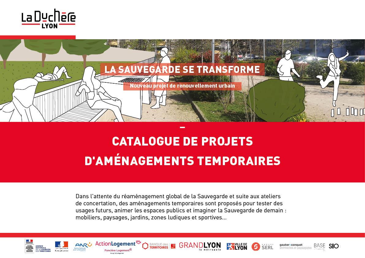 Catalogue des projets d'aménagements temporaires à la Sauvegarde